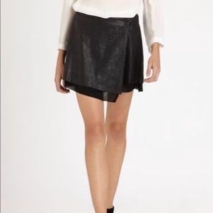 Black leather Joie skirt